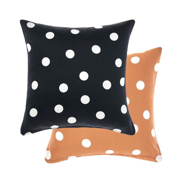 Linen House Vivienne Black Square Filled Cushion | My Linen