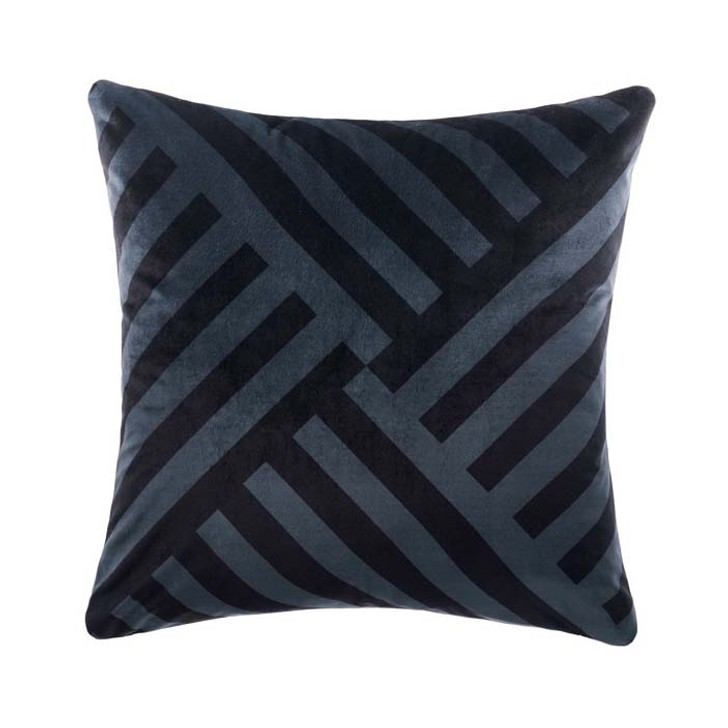 Linen House Phoenix Slate Square Filled Cushion   My Linen