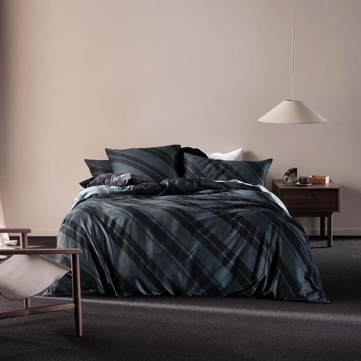 Linen House Phoenix Slate King Bed Quilt Cover Set | My Linen
