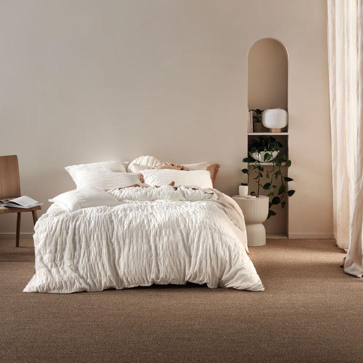 Linen House Shrimpton White Single Bed Quilt Cover Set | My Linen