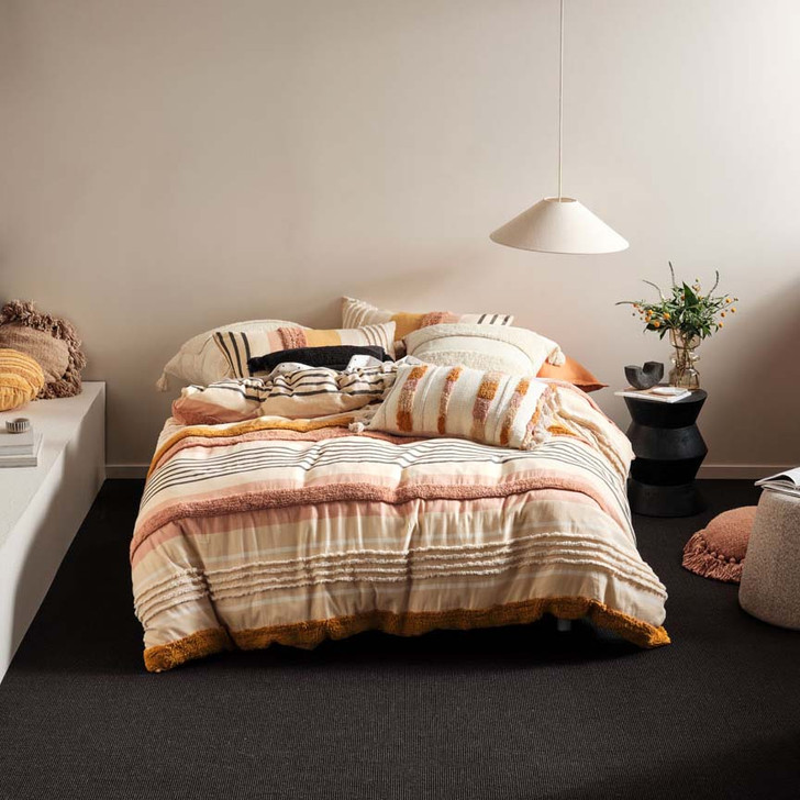 Linen House Briony Brandy Queen Bed Quilt Cover Set | My Linen