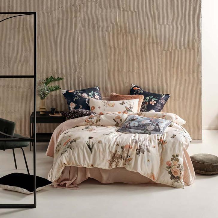 Linen House Gwyneth Peach Queen Bed Quilt Cover Set | My Linen