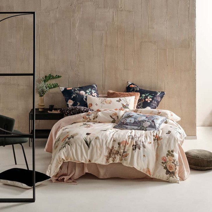 Linen House Gwyneth Peach King Bed Quilt Cover Set | My Linen