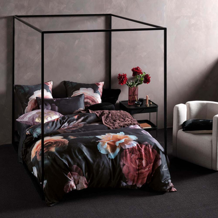 Linen House Mia Black Double Bed Quilt Cover Set | My Linen