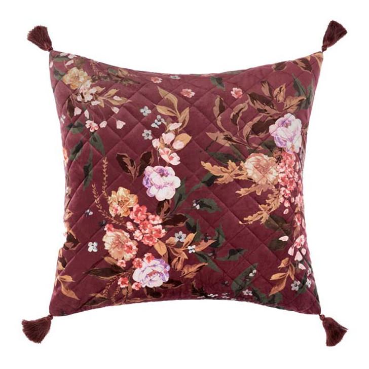Linen House Cecilia Black European Pillowcase | My Linen