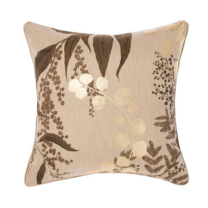 Linen House Nellie Petrol Square Filled Cushion | My Linen
