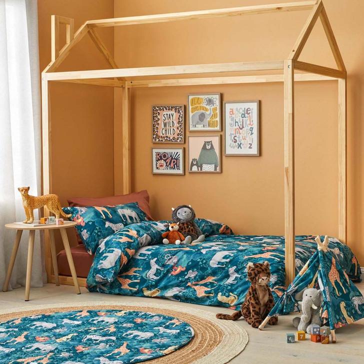Jiggle & Giggle Jungle Explorer Queen Bed Quilt Cover Set | My Linen