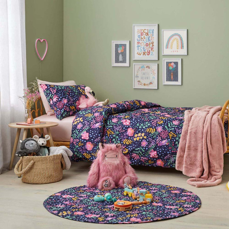 Jiggle & Giggle Ivy Garden Single Bed Quilt Cover Set   My Linen
