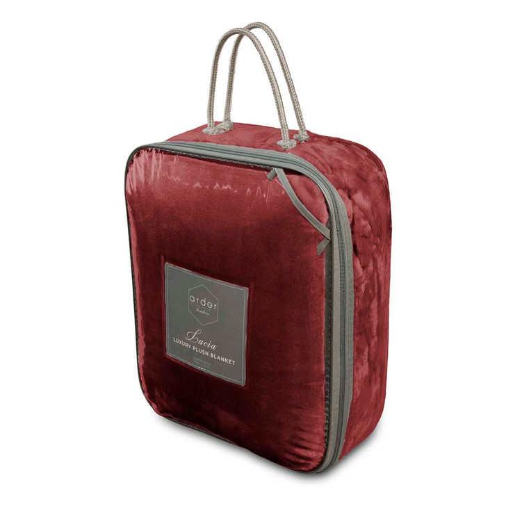 Ardor Boudoir Lucia Plush Queen Bed Blanket Jarrah Packaging | My Linen