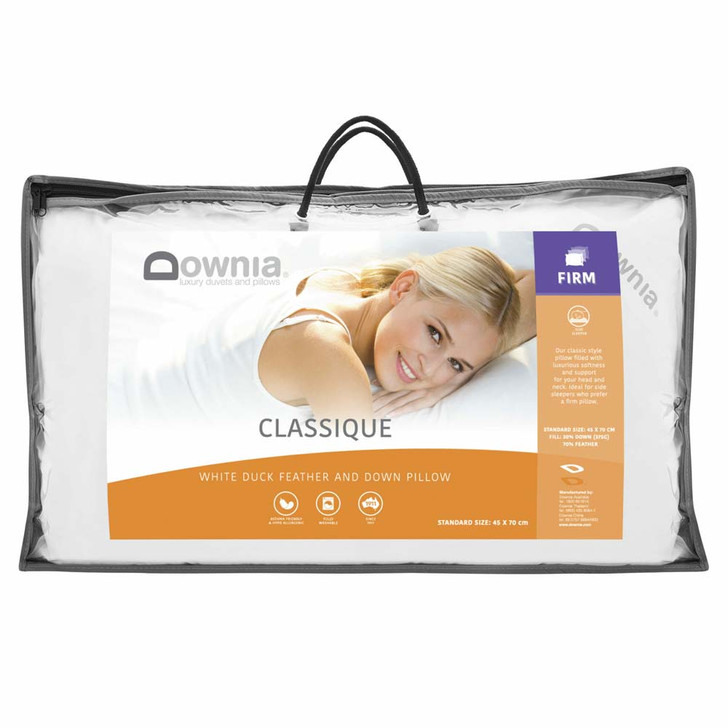 Downia Classique 50 Collection Down and Feather Firm Profile Pillow | My Linen
