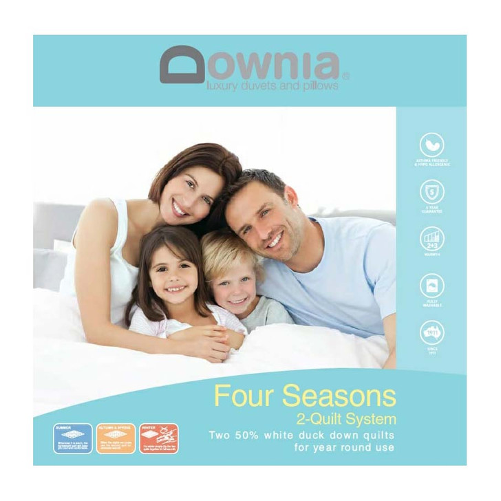 Downia Four Seasons Collection Goose Down & Feather Quilt Queen Bed | My Linen
