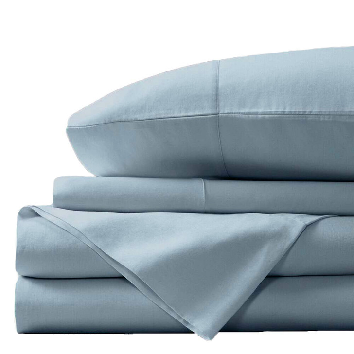 Concierge Luxury Bamboo Cotton Double Bed Sheet 400TC Sky | My Linen