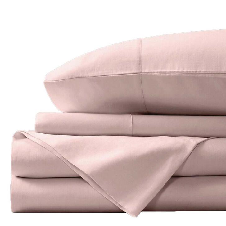Concierge Luxury Bamboo Cotton Double Bed Sheet 400TC Blush | My Linen