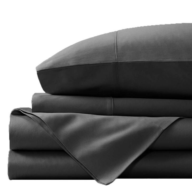 Concierge Luxury Bamboo Cotton Double Bed Sheet 400TC Granite | My Linen