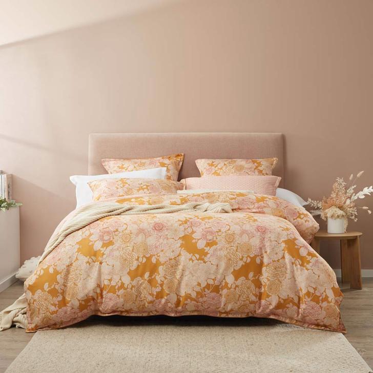 Platinum Logan and Mason Arbour Honey Queen Bed Quilt Cover Set | My Linen