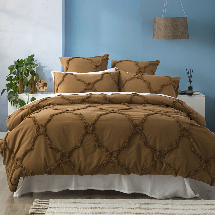 Renee Taylor Moroccan Wood King Bed Quilt Cover Set   My Linen