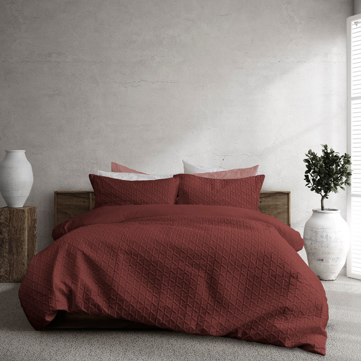 Ardor Boudoir Leonardo Mahogany Single Bed Quilt Cover Set   My Linen