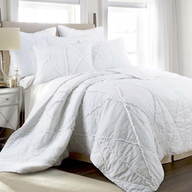 Jenny Mclean Bobby White King Bed Coverlet Set   My Linen