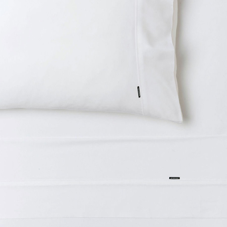 Linen House Nara Bamboo Cotton White Sheet Set Super King   My Linen