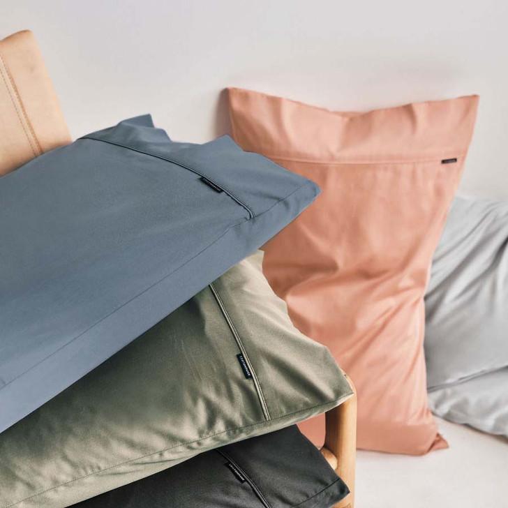 Linen House Nara Bamboo Cotton Silver Standard Pillowcase Collection   My Linen