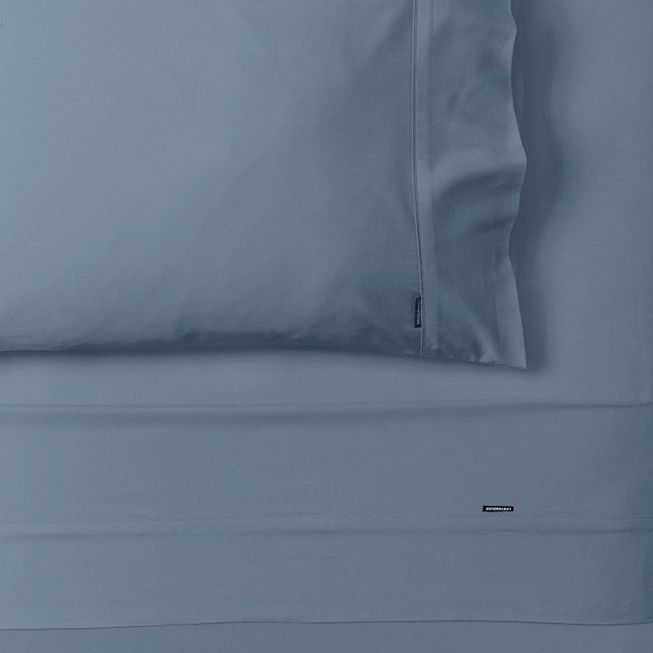 Linen House Nara Bamboo Cotton Bluestone Sheet Set King Bed | My Linen