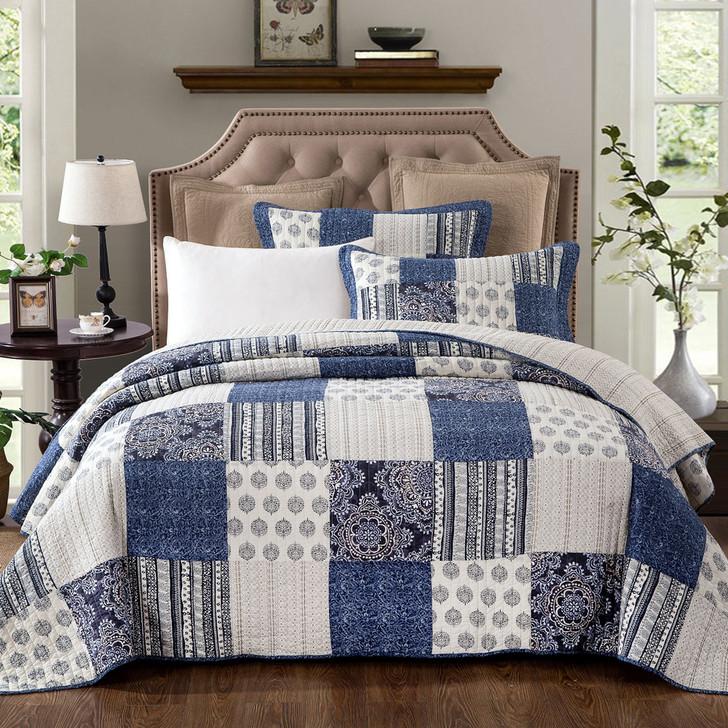 Classic Quilts Horizon Super King Coverlet Set | My Linen