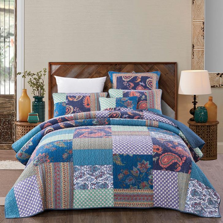 Classic Quilts Sapphire Queen Bed Coverlet Set   My Linen