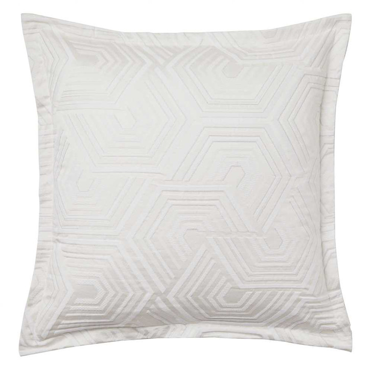 Private Collection Bree Silver European Pillowcase   My Linen