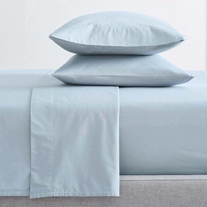 Renee Taylor Organic Baby Blue Sheet Set Long Single Bed | My Linen