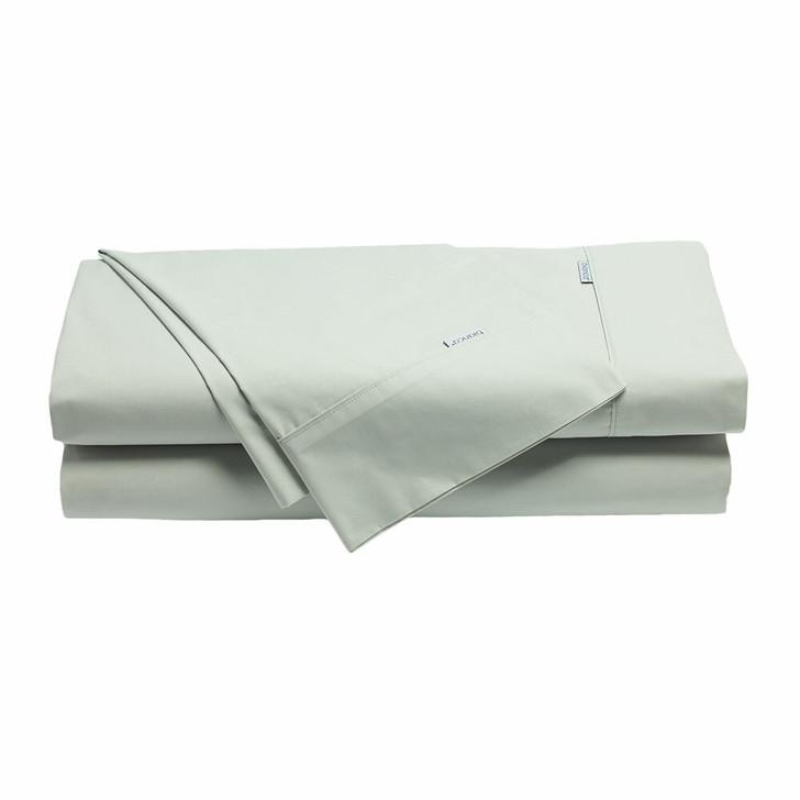 Bianca Heston 100% Cotton Percale Silver Sheet Set Split Queen Bed   My Linen