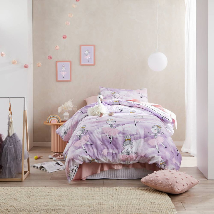 Logan and Mason Dancing In The Clouds Single Bed Quilt Cover Set | My Linen