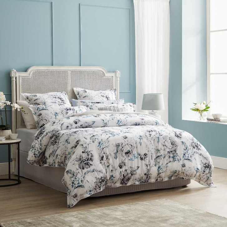 Private Collection Salsbury Grey King Bed Quilt Cover Set   My Linen