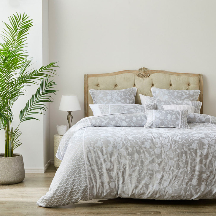 Private Collection Philomena Dove Super King Quilt Cover Set | My Linen