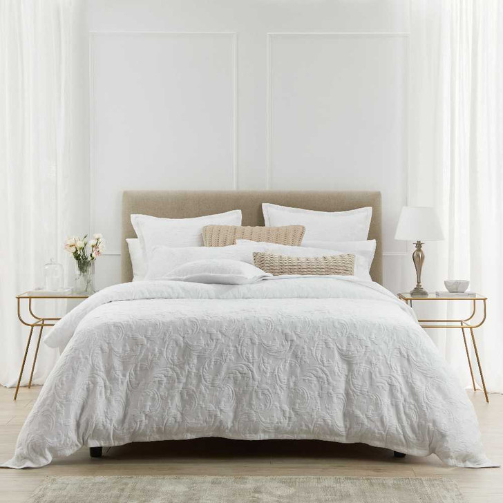 Private Collection Parisi White King Bed Quilt Cover Set   My Linen