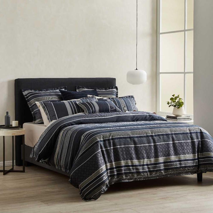 Private Collection Detroit Navy King Bed Quilt Cover Set | My Linen