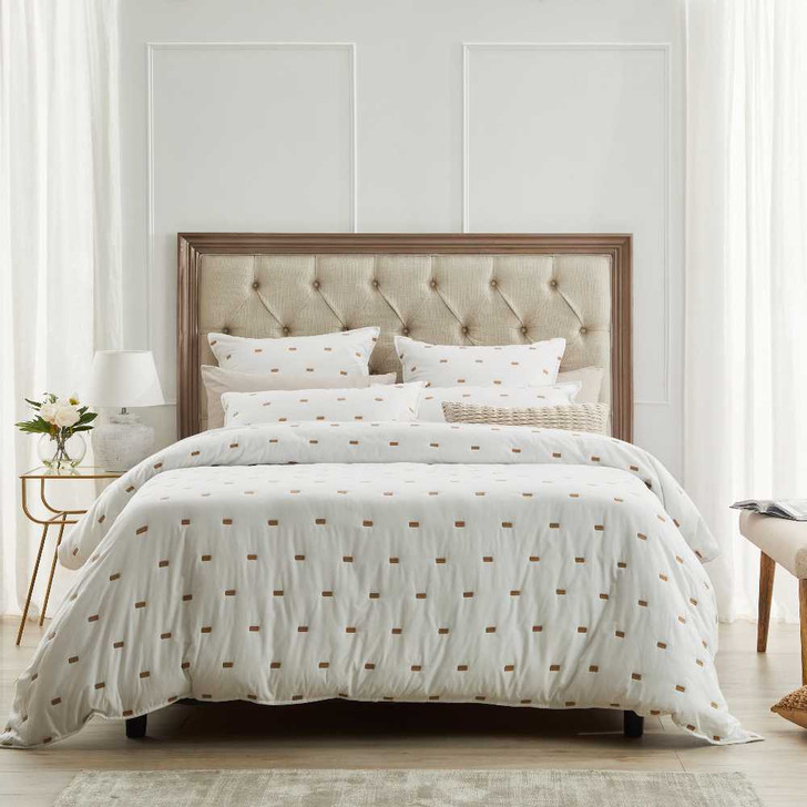 Private Collection Coburn Stone Queen Bed Quilt Cover Set | My Linen