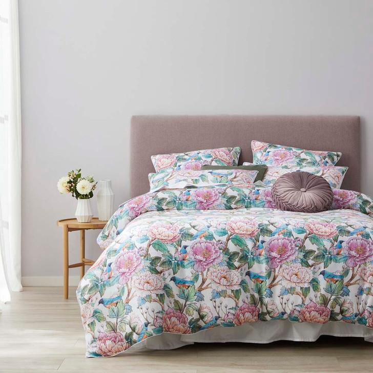 Platinum Logan and Mason Tea Party Bloom Queen Bed Quilt Cover Set   My Linen