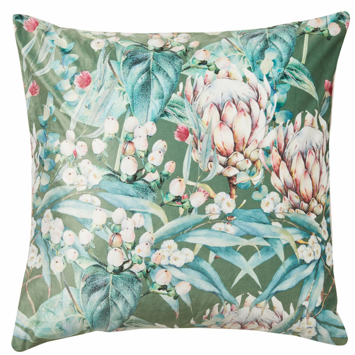 Platinum Logan and Mason Tasman Olive European Pillowcase   My Linen