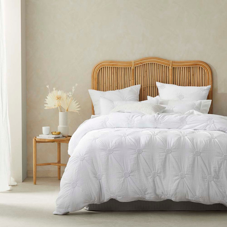 Platinum Logan and Mason Summer White Double Bed Quilt Cover Set | My Linen