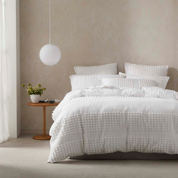 Platinum Logan and Mason Dream White Queen Bed Quilt Cover Set   My Linen
