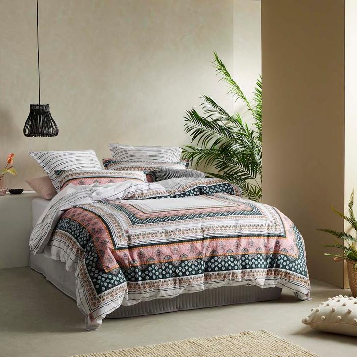 Logan and Mason Sarita Blush Queen Bed Quilt Cover Set   My Linen