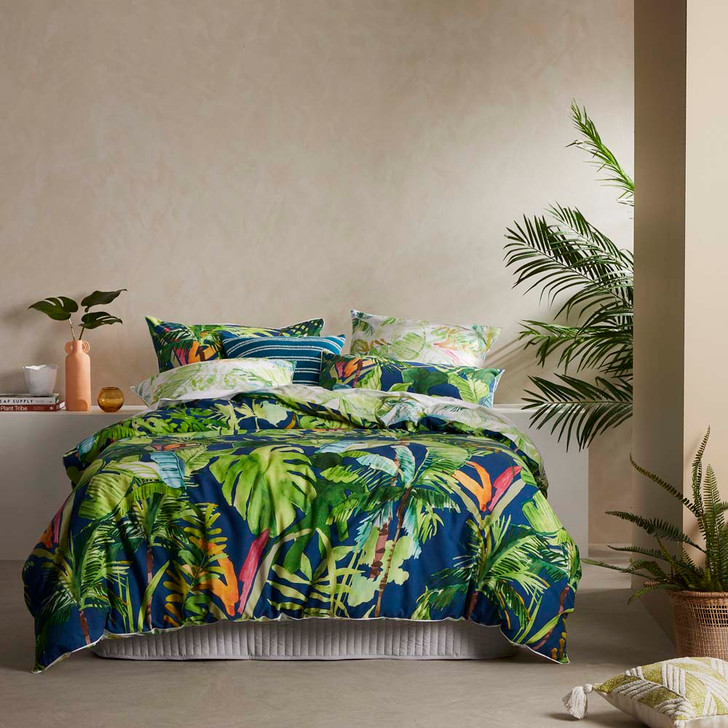 Logan and Mason Mahal Fern King Bed Quilt Cover Set | My Linen