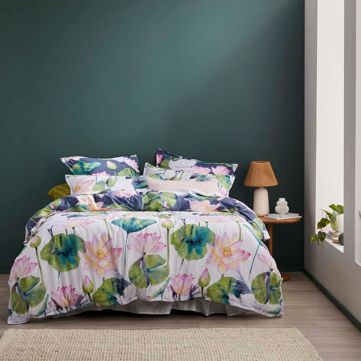 Logan and Mason Lili Dusk King Bed Quilt Cover Set   My Linen