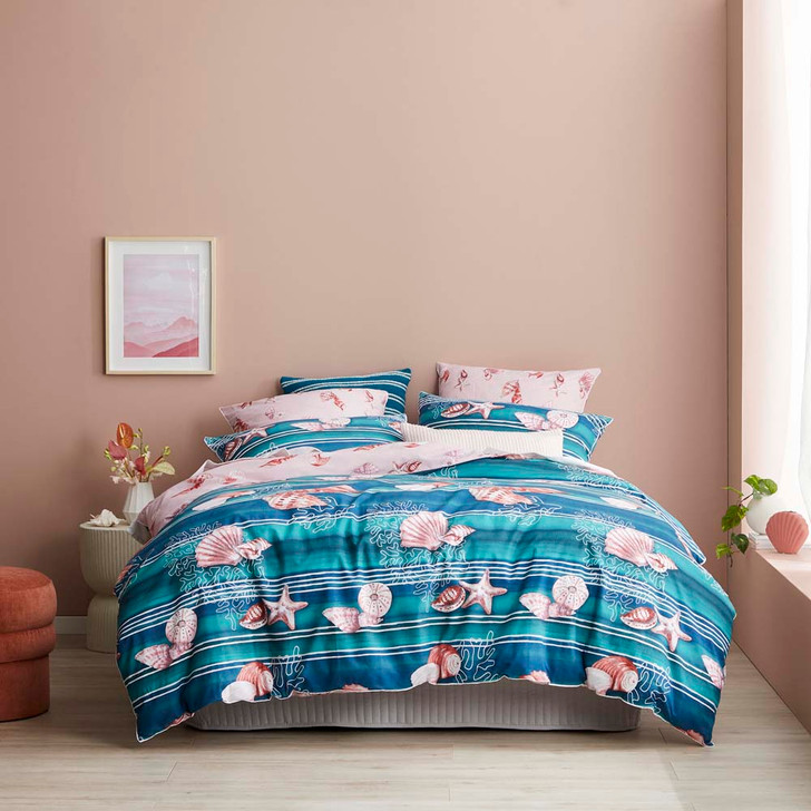 Logan and Mason Hawaii Shell Double Bed Quilt Cover Set | My Linen