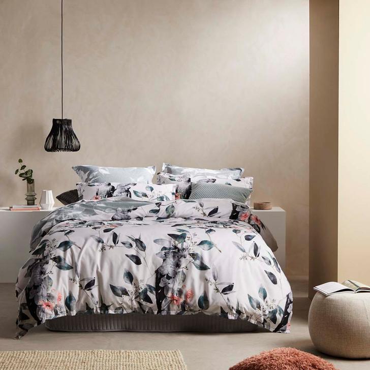 Logan and Mason Cockatoo Black Queen Bed Quilt Cover Set | My Linen