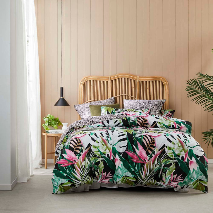 Logan and Mason Akena Forest Double Bed Quilt Cover Set   My Linen