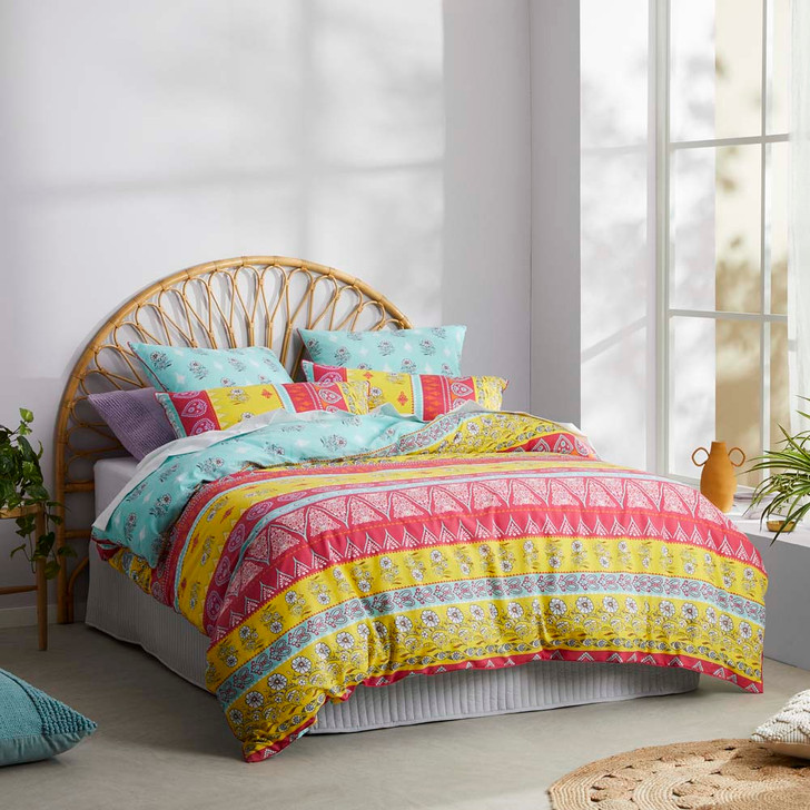 Logan and Mason Boss Red Single Bed Quilt Cover Set   My Linen