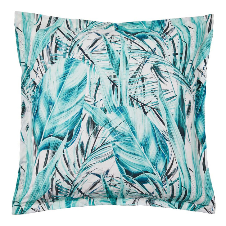 Logan and Mason Abacus Teal European Pillowcase   My Linen
