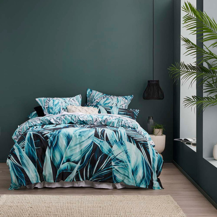 Logan and Mason Abacus Teal Queen Bed Quilt Cover Set | My Linen