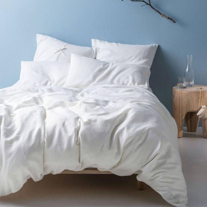 Linen House Nimes White King Bed Quilt Cover Set | My Linen